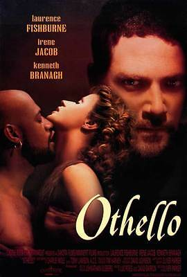 "OTHELLO Movie POSTER 27x40 B Laurence ""Larry"" Fishburne Irene Jacob Kenneth"
