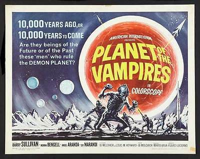 PLANET OF THE VAMPIRES Movie POSTER 22x28 Half Sheet Barry Sullivan Norma