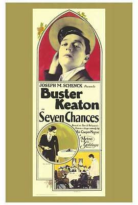 SEVEN CHANCES Movie POSTER 27x40 Buster Keaton T. Roy Barnes Snitz Edwards Ruth