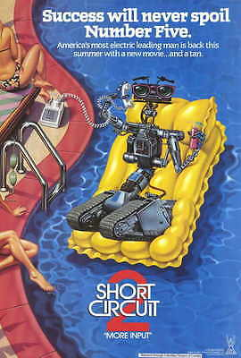 SHORT CIRCUIT 2 Movie POSTER 27x40 Fisher Stevens Cynthia Gibb Michael McKean