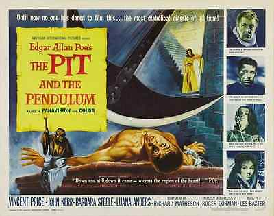 THE PIT AND THE PENDULUM Movie POSTER 27x40 B Vincent Price John Kerr Barbara