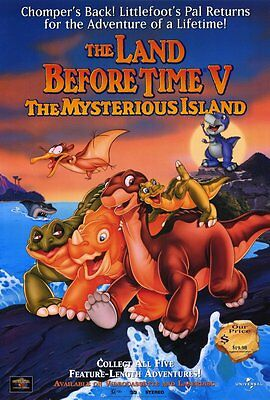 THE LAND BEFORE TIME 5: THE MYSTERIOUS ISLAND Movie POSTER 27x40 Jeff Bennet