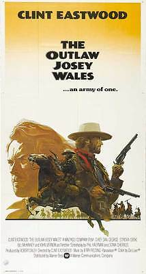 THE OUTLAW JOSEY WALES Movie POSTER 27x40