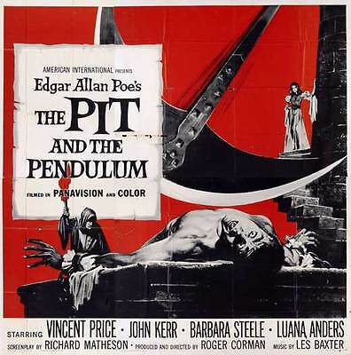 THE PIT AND THE PENDULUM Movie POSTER 30x30 Vincent Price John Kerr Barbara