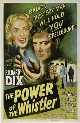 THE POWER OF THE WHISTLER Movie POSTER 27x40 Richard Dix Janis Carter Jeff