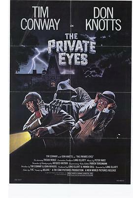 THE PRIVATE EYES Movie POSTER 27x40 Don Knotts Tim Conway Trisha Noble Bernard
