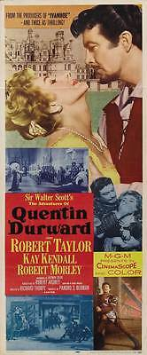 THE ADVENTURES OF QUENTIN DURWARD Movie POSTER 14x36 Insert Robert Taylor Kay