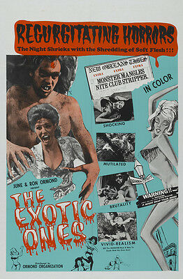 THE MONSTER AND THE STRIPPER Movie POSTER 27x40