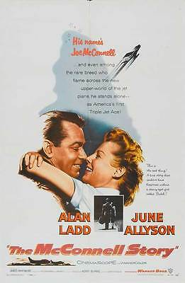 THE MCCONNELL STORY Movie POSTER 27x40 Alan Ladd June Allyson James Whitmore