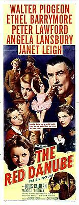 THE RED DANUBE Movie POSTER 14x36 Insert