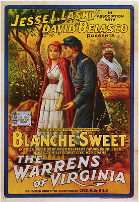 THE WARRENS OF VIRGINIA Movie POSTER 27x40 Blanche Sweet James Neill Page Peters