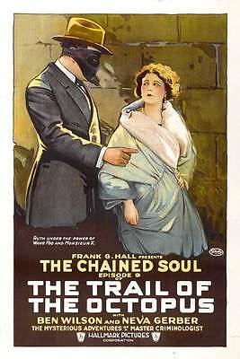THE TRAIL OF THE OCTOPUS Movie POSTER 27x40 B Ben F. Wilson Neva Gerber William