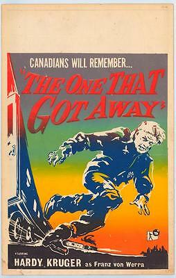 THE ONE THAT GOT AWAY Movie POSTER 27x40 Hardy Kr ger Michael Goodliffe Colin