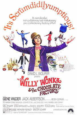 WILLY WONKA AND THE CHOCOLATE FACTORY Movie POSTER 27x40 Gene Wilder Jack