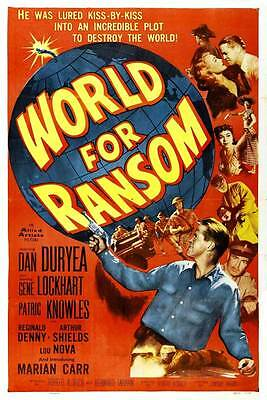 WORLD FOR RANSOM Movie POSTER 27x40