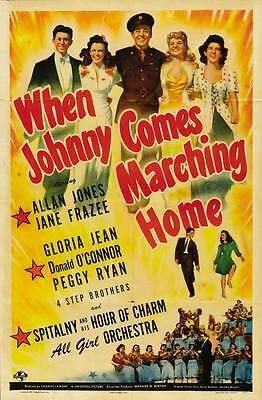 WHEN JOHNNY COMES MARCHING HOME Movie POSTER 27x40
