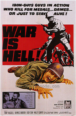 WAR IS HELL Movie POSTER 27x40 Baynes Barron Michael Bell Bobby Byles Wally