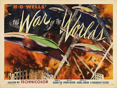 THE WAR OF THE WORLDS Movie POSTER 30x40 Gene Barry Ann Robinson Les Tremayne