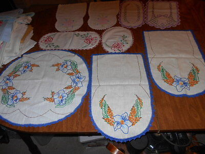 Lot of 9 VINTAGE DRESSER SCARVES ALL BEAUTIFUL PIECES