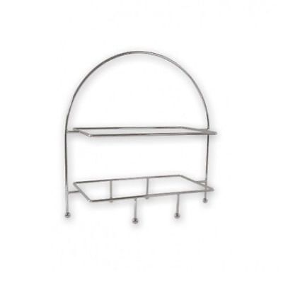 Display Stand for Trays & Platters, 2 Tier Rectangular, Seafood, High Tea, Cakes