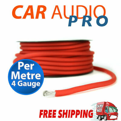 4 Gauge AWG RED Car Subwoofer AMP Wiring Wire Power Ground Cable 1 meter length