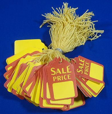 100 Qty. Sale Price Strung Merchandise Tags #5 Retail Store Supplies