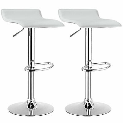 Pleasant Set Of 2 Swivel Bar Stool Adjustable Pu Leather Backless Machost Co Dining Chair Design Ideas Machostcouk