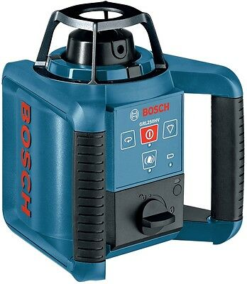 New Bosch 1000-ft Beam Self-Leveling Rotary Laser Level Tripod Beam Case Rod