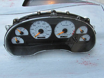 MUSTANG COBRA 1998 - factory 160MPH WHITE FACED SPEEDOMETER CLUSTER,saleen,gt