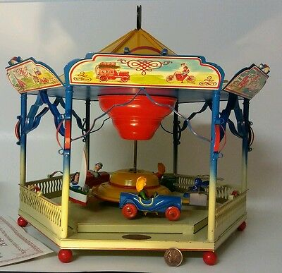 Tucher & Walther T294 Kinderkarussell Carousel Tin Toy Germany LARGE DISPLAY