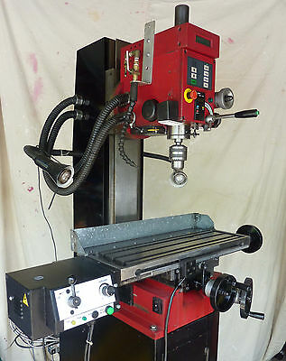Seig SX3 Milling Machine -  1000W DC Variable Speed, Power Feed, Dovetail Column