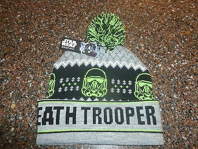 Disney Star Wars Death Tooper Knit Hat Ugly Sweater Style w Pom NWT OS Rogue One