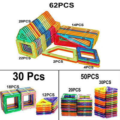 22/25/30/50/62pcs Magnetic Building Blocks Educational Children Kids DIY Toys
