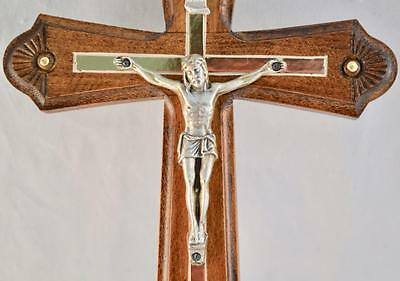 Large Wooden Wall Hand Carved Crucifix Jesus Christ Handmade Cross Religious New