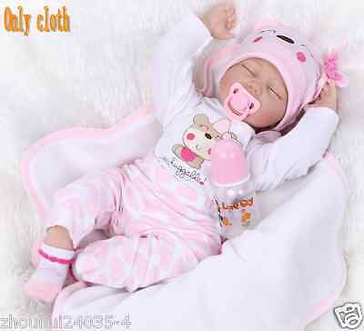 """22"""" Newborn Baby Clothes Reborn Doll Baby Girl Clothes Christmas dress up Gift"""