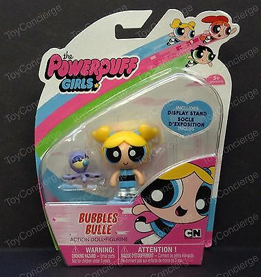 "The POWERPUFF GIRLS 2"" Inch ACTION Doll BUBBLES w/Pet OCTOPUS Figurine NEW"