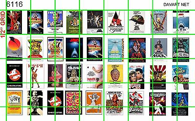 6116 DAVE'S DECALS 70's & 80's THEATER MOVIE POSTER SET APPROX ONE SHEET SIZE