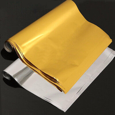 50 Sheets A4 Gold/Silver Transfer Foil Paper Laser Printer Machine Hot Laminator