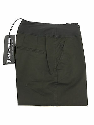 EUROPEAN CULTURE women's trousers mod 064U black short ankle MADE IN ITALY