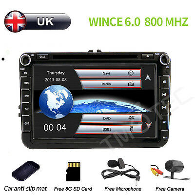"8"" VW Golf MK5 6 JETTA PASSAT POLO T5 Car DVD Radio Player GPS 3G Bluetooth+Cam"