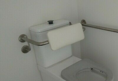 Toilet Backrest Safety Rail As1428 Grab Bar Disabled Stainless Steel Soft