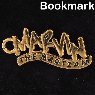BOOKMARK Marvin The Martian NAME PLATE WARNER BROS LOONEY TUNES WB Gold 4244