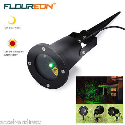 RGB LED Firefly Shower Laser Light Moving Projector Outdoor Garden Xmas Party UK