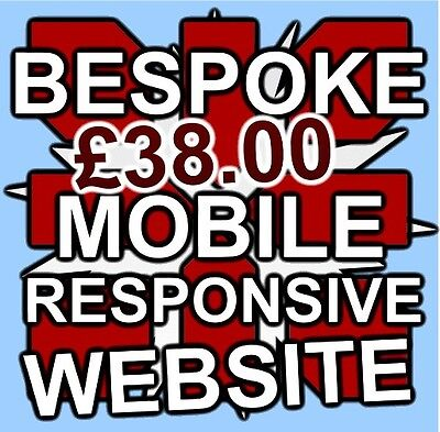 5 Pages Bespoke Website Web Design Mobile Responsive Business Or Personal