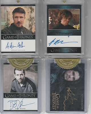 Game Of Thrones Season 2 Auto D.b. Weiss 3 Case Incentive Bordered Autograph
