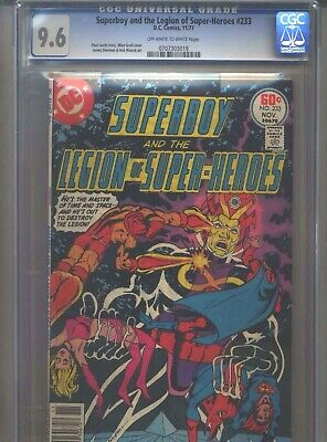 Superboy #233 CGC 9.6 (1977) & Legion of Super-Heroes Only 9 Higher @ 9.8