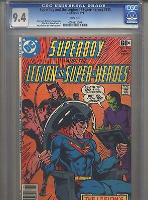 Superboy #235 CGC 9.4 (1978) & Legion of Super-Heroes Only 6 Higher @ 9.6