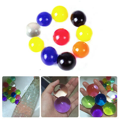 10pcs Colorful Magic Jumbo Crystal Pearl Grow with Water Beads Jelly Party Balls