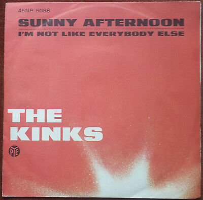 The Kinks - Sunny Afternoon / I'm Not Like Everyboby Else - 7' 1966 Ita 45 Giri