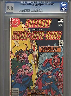 Superboy #237 CGC 9.6 (1978) & Legion of Super-Heroes Only 3 Higher @ 9.8